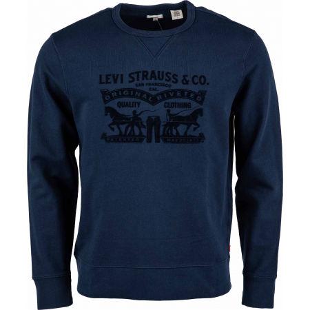 Levi's GRAPHIC CREW B LOGO SSNL CREW MINERAL BL - Bluza męska