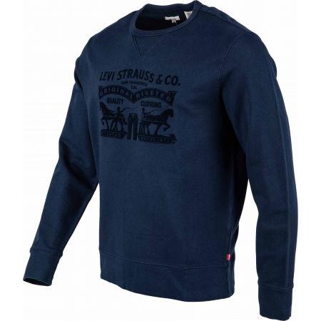 Men's sweatshirt - Levi's GRAPHIC CREW B LOGO SSNL CREW MINERAL BL - 2