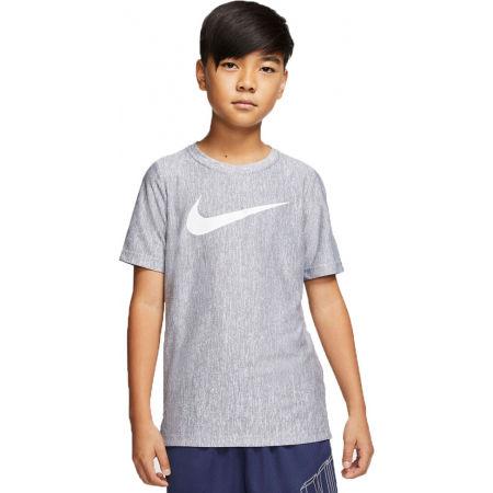 Тениска за тренировка за момчета - Nike CORE SS PERF TOP HTHR B - 1
