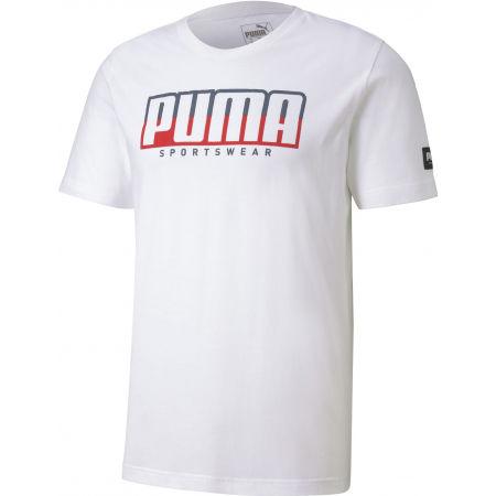 Мъжка спортна тениска - Puma ATHLETIC TEE BIG LOGO - 1