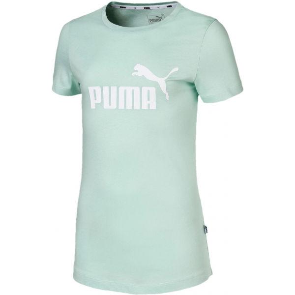 Puma ESS LOGO TEE G světle zelená 164 - Dívčí sportovní triko