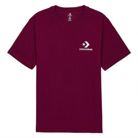 Мъжка тениска - Converse LEFT CHEST STAR CHEVRON SHORT SLEEVE COTTON T-SHIRT