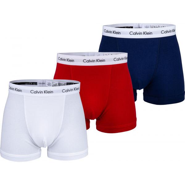 Calvin Klein 3P TRUNK tmavě modrá M - Pánské boxerky