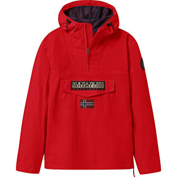 Napapijri RAINFOREST M SUM 1 červená M - Pánská bunda