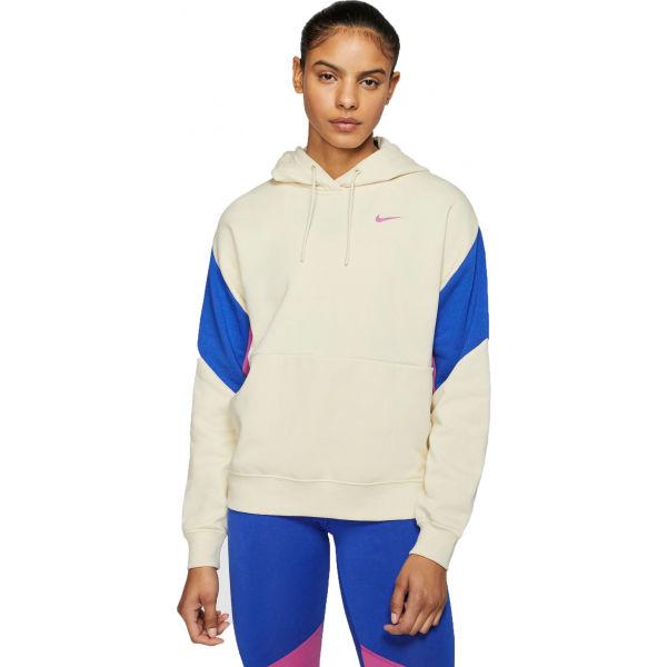 Nike NSW PO FT CB W béžová S - Dámská mikina