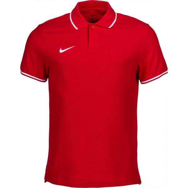 Nike POLO TM CLUB19 SS M zelená M - Pánské polotričko