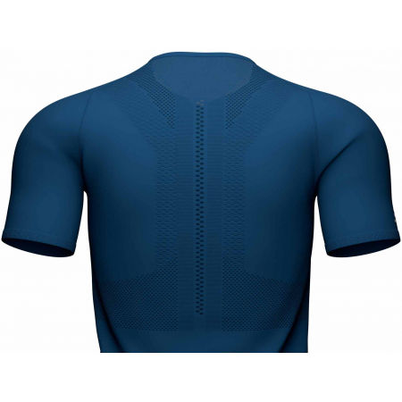 Men's running jersey - Compressport TRAIL HALF-ZIP FITTED SS TOP - 4