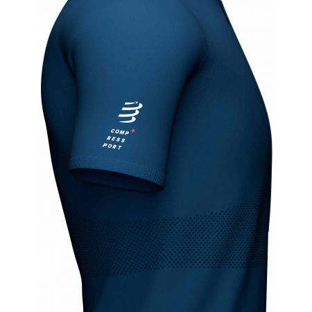 Men's running jersey - Compressport TRAIL HALF-ZIP FITTED SS TOP - 5