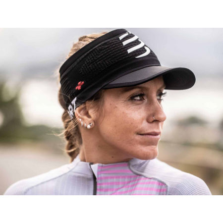 Running headband with a visor - Compressport SPIDERWEB HEADBAND ON/OFF - 3