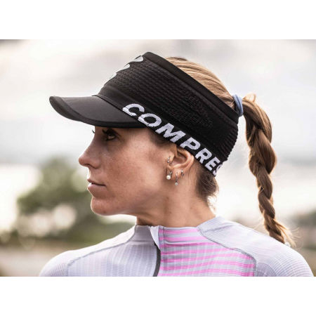 Running headband with a visor - Compressport SPIDERWEB HEADBAND ON/OFF - 4