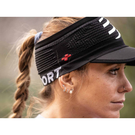 Running headband with a visor - Compressport SPIDERWEB HEADBAND ON/OFF - 5