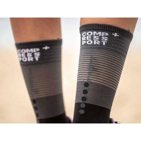 Дълги чорапи за бягане - Compressport MID COMPRESSION SOCKS - 3