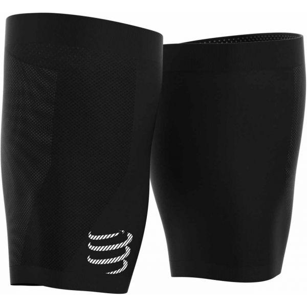 Compressport UNDER CONTROL QUAD čierna T3 - Kompresné návleky na stehná