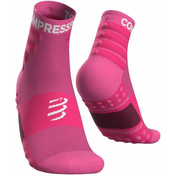 Compressport TRAINING SOCKS 2-PACK ružová T1 - Športové ponožky