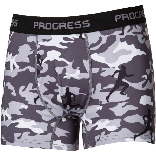 Progress CAMO šedá XL - Pánske boxerky