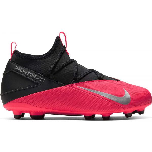 Nike JR PHANTHOM VISION CLUB 2 DF FG/MG růžová 5.5Y - Dětské kopačky