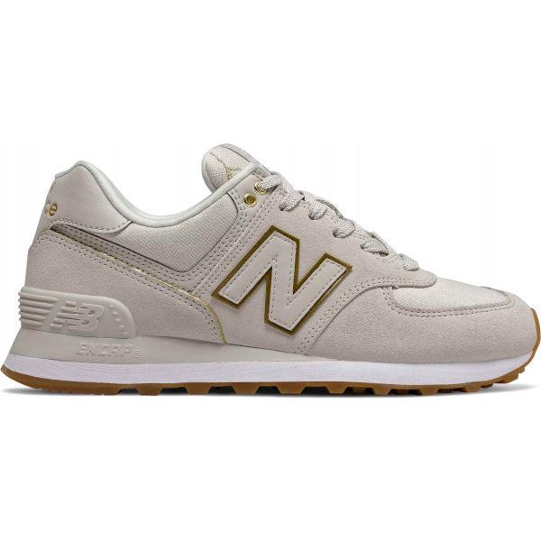 New Balance WL574SOA šedá 5.5 - Dámská volnočasová obuv