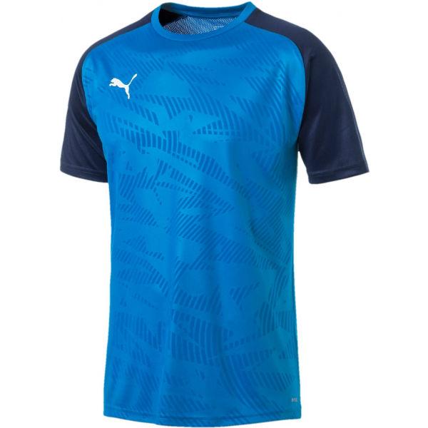 Puma CUP TRAINING JERSEY COR modrá XXL - Pánské sportovní triko