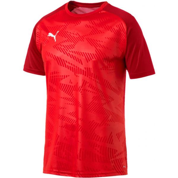 Puma CUP TRAINING JERSEY COR červená XXXL - Pánské sportovní triko