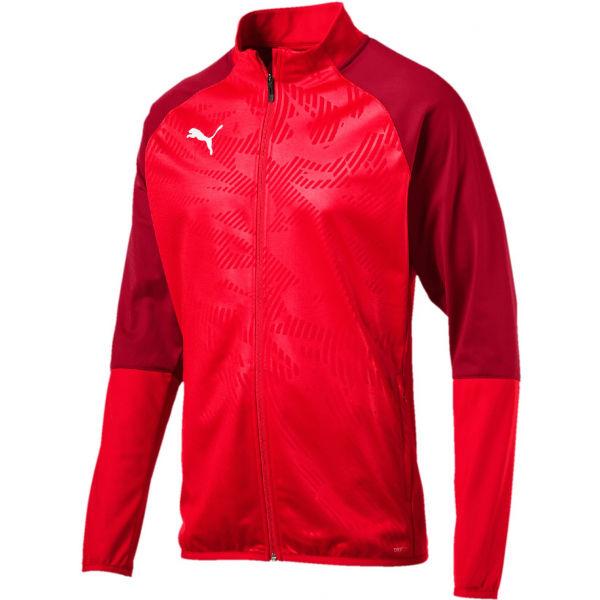 Puma CUP TRAINING POLY JACKE červená XL - Pánská fotbalová bunda