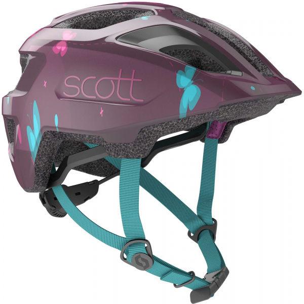 Scott SPUNTO KID lila (46 - 52) - Gyerek kerékpáros sisak